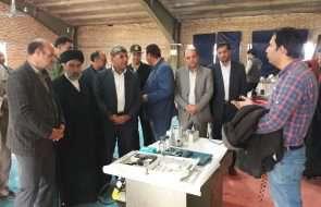 بازدید امام جمعه و فرماندار خوشاب از غرفه دستاوردها و توانمندی های آبفار