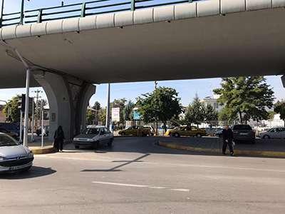 محدوده زیر پل ۹دی واقع در چهارراه عمران مناسب سازی شد