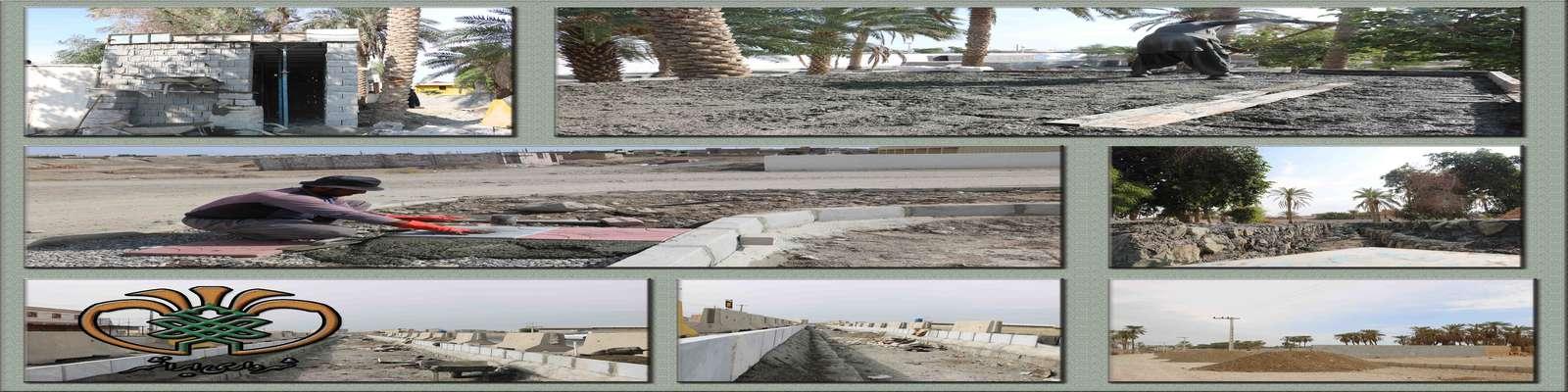 فعالیت های عمرانی و خدماتی در حال انجام شهرداری ایرانشهردر نقاط مختلف شهر