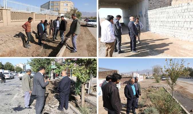 بازدید مهندس مهدلو شهردار از پروژه های عمرانی شهر
