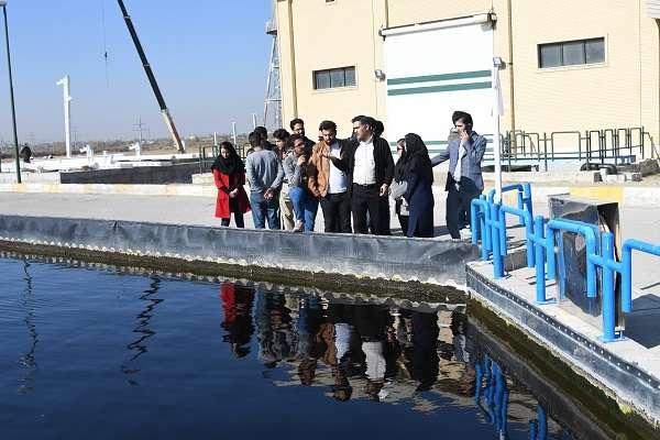 بازدید دانشجویان مهندسی عمران محیط زیست دانشگاه ارومیه از تاسیسات آب و فاضلاب ارومیه
