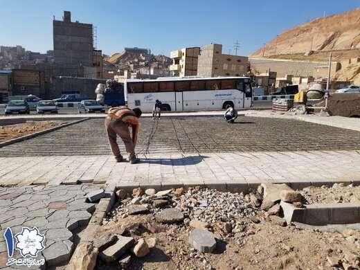 اجرای پروژه بوستان محلهای آخر خیابان شهید رجایی به مراحل نهایی رسید