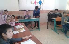 مشارکت دانش آموزان روستایی فیروزه در مسابقه نقاشی آب = زندگی