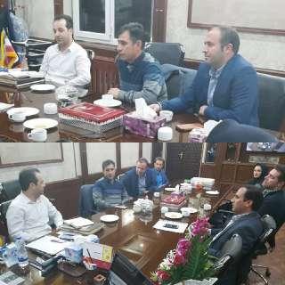 جلسه اعضای هیات اجرایی دفتر نمایندگی سازمان در شهرستان خلخال با رییس سازمان