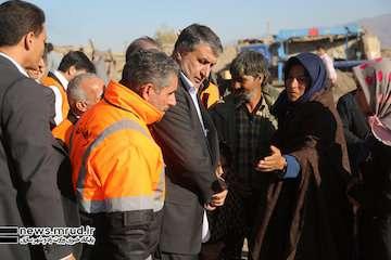 بازدید وزیر راه و شهرسازی از ۱۰ روستای زلزلهزده آذربایجان شرقی