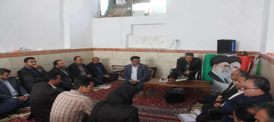 جلسه بررسی مشکلات روستاهای دهستان طرود شهرستان شاهرود
