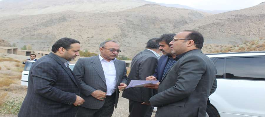 بازدید از نقاط پیشنهادی جهت احداث شهرک جدید روستای امامزاده عبداله شهرستان سرخه