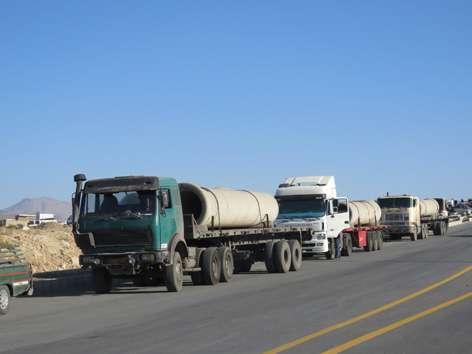 عملیات تعریض و اصلاح مسیل جاده  ورودی خوانسار از سمت بویین میاندشت
