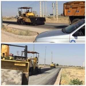 """عملیات اجرایی آسفالت مسیر دسترسی به بیمارستان امیرالمومنین""""ع"""""""