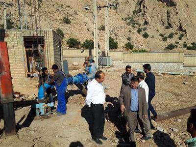 بازدید مدیرعامل آبفای استان از تاسیسات آبرسانی شهرهای  دهدشت و دوگنبدان