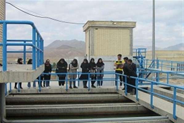 بازدید كارشناسان بهداشت محیط از تصفیه خانه آب شرب غدیر آبفا دامغان