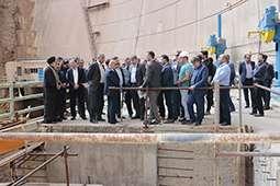 بازدید  مدیرعامل سازمان آب و برق خوزستان از سد و نیروگاه دز