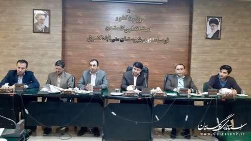 برگزاری جلسه  ستاد پیشگیری ، هماهنگی و فرماندهی عملیات پاسخ به بحران در شهرستانهای  رامیان  ، علی آباد کتول  و آزادشهر