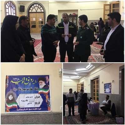 حضور گروههای اردوی جهادی به همراه تیم پزشکی در مسجد جامع شهر علامه مجلسی(ره) و خدمات رسانی رایگان به شهروندان