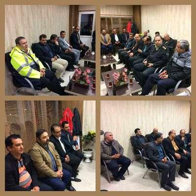 جلسه اعضای شورای تامین شهرستان لاهیجان با ستاد مدیریت بحران شهرداری لاهیجان در مورد آمادگی بارش شدید باران