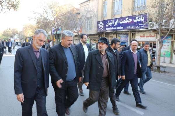 حضور شهردار و پرسنل شهرداری بناب در راهپیمایی حمایت از امنیت و اقتدار کشور+ تصاویر
