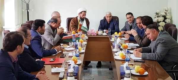 جلسه مشترک مدیران سازمان اوقاف و امور خیریه با شهردار خوی
