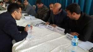 به مناسبت هفته بسیج ، میزخدمت مدیران شهرداری بجنورد در مصلا برگزار شد