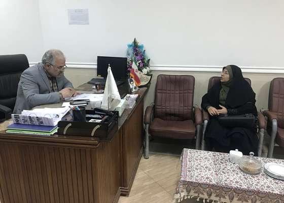دیدار نماینده صندوق بیمه اجتماعی کشاورزان دامغان با رئیس شورای شهر