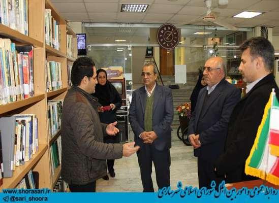 بازدید علیجان شمشیربند رئیس  و سید علی آقامیری عضو شورای اسلامی شهر ساری از کتابخانه های شهر ساری