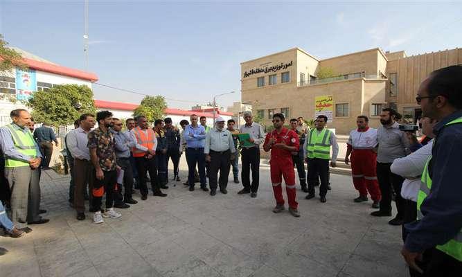 برگزاري مانور زلزله در توزيع نيروي برق شيراز