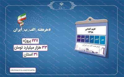 افتتاح هفتگي طرح هاي بزرگ صنعت آب وبرق در قالب طرح پويش الف ، ب، ايران
