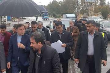 بازدید استاندار گیلان از روند عملیات تکمیلی تقاطع غیرهمسطح گیل لاهیجان