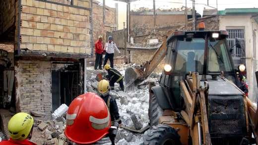 جزئیات حادثه ریزش ساختمان نیمهکاره در تبریز تشریح شد