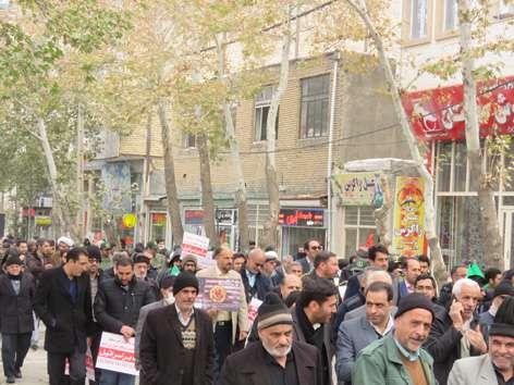 راهپیمایی مردم خوانسار در محکومیت اقدامات اشرار و آشوب های اخیر