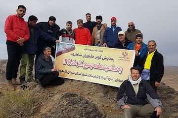 پیمایش کویر خارتوران توسط تیم کوهنوردی وزارت راه و شهرسازی