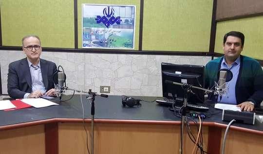 حضور مدیرعامل آبفای گیلان در برنامه زنده دریچه رادیو گیلان