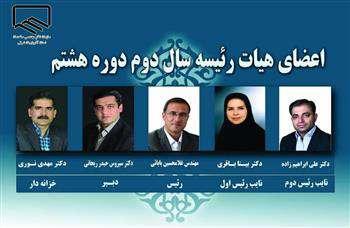 انتخاب هیات رئیسه و خزانه دار سازمان نظام مهندسی ساختمان استان آذربایجان شرقی