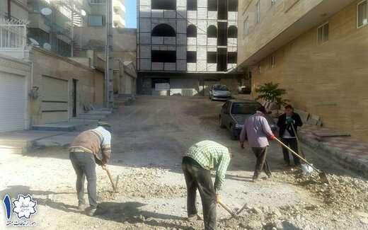آغاز عملیات اصلاح و زیرسازی کوی گیشا در خیابان قانون