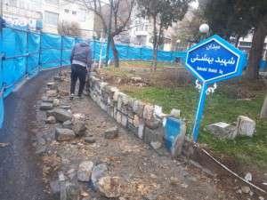 آغاز پروژه ساماندهی میدان شهید بهشتی توسط شهرداری تفرش