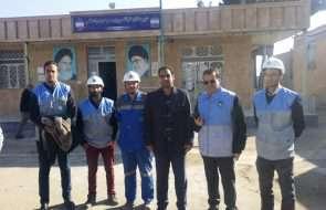 حضور فعال امور آبفار فیروزه در مانور زلزله