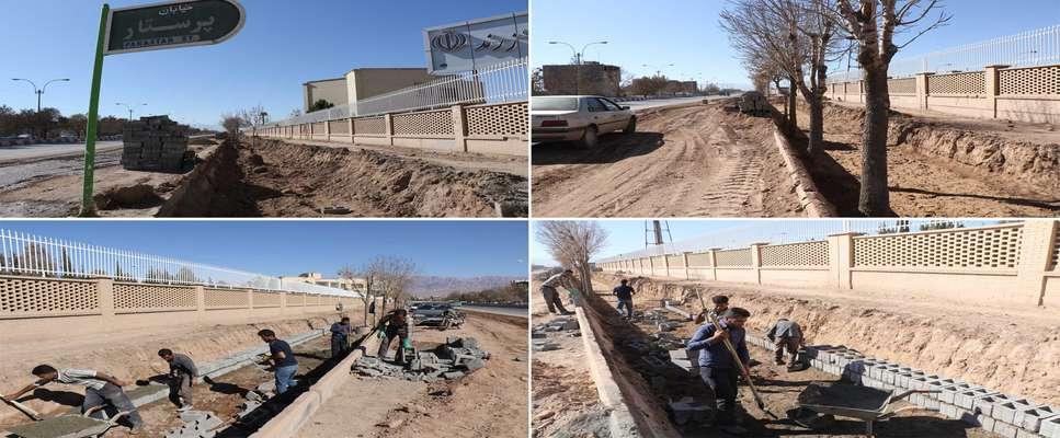 آغاز عملیات احداث كانال هدایت آب در بلوار 9دی