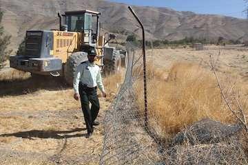 آزادسازی ۹۲۵ متر مربع از اراضی ملی در لارستان
