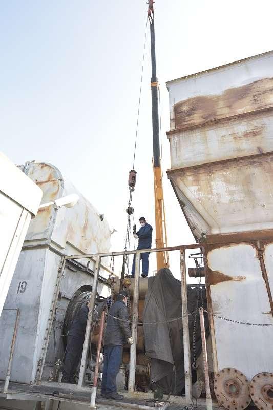 تعمیرات اساسی واحد 19 هیتاچی نیروگاه برق ری در حال انجام است