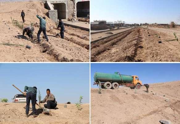 مهندس عبدالله زاده از آغاز عملیات كشت درختچه های زینتی در پل پارسیان خبر داد .