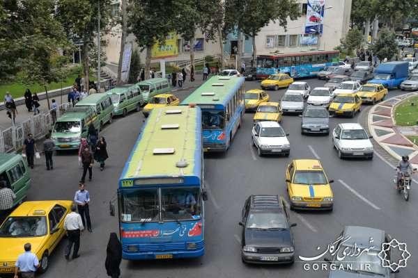 فعالیت 72 اتوبوس و بیش از 2 هزار تاکسی در گرگان