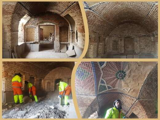 آوار برداری و ساماندهی قسمتهای داخلی بنای خانه تاریخی کلکتهچی