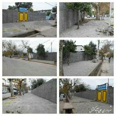 عملیات عمرانی پیاده روسازی و تعریض خیابان