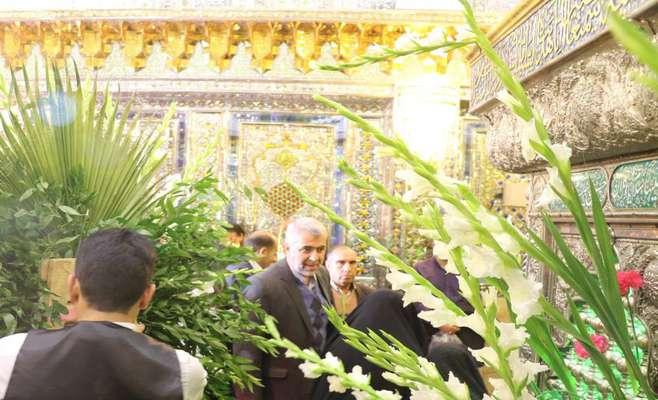 گلباران مرقد سومین شهید محراب با حضور اعضای شورای شهر شیراز