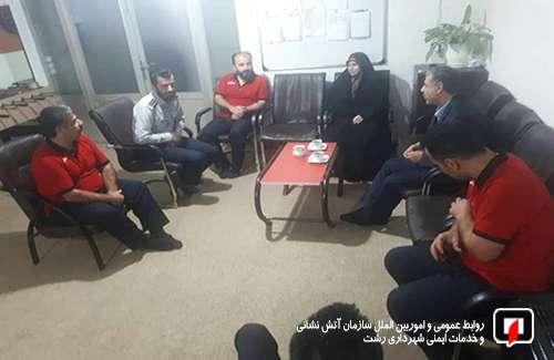 بازدید سرزده عضو محترم شورای اسلامی از ایستگاه آتش نشانی در رشت