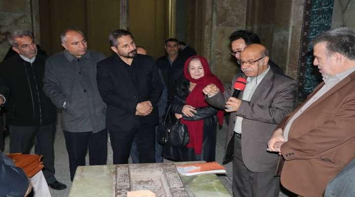حضور ایرج شهین باهر در مزار صائب تبریزی