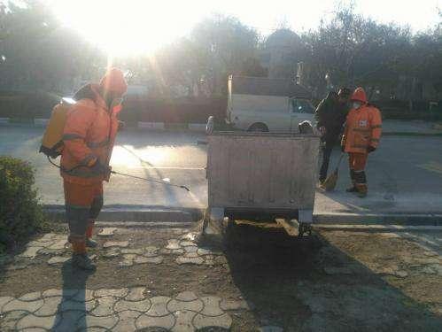 حذف آهک پاشی در فرآیند ضدعفونی مخازن زباله کلانشهر مشهد