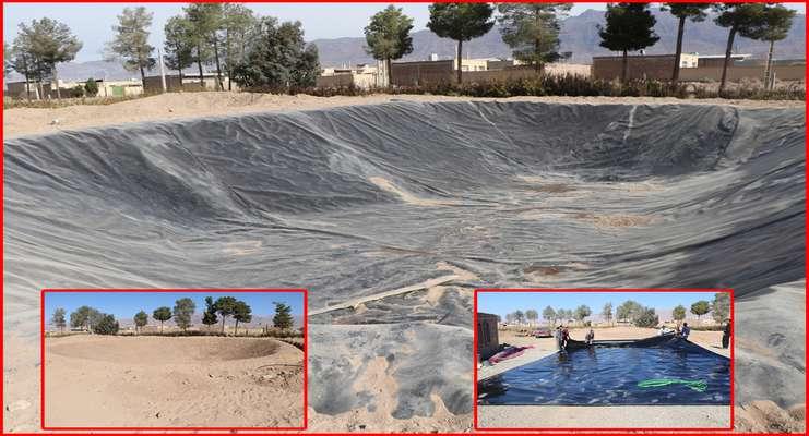 مهندس عبدالله زاده از ساخت استخر ذخیره آب ژئوممبران خبر داد .