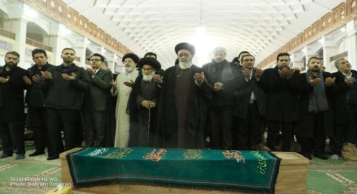 مراسم تشییع و خاکسپاری عضو فقید شورای شهر تبریز برگزار شد