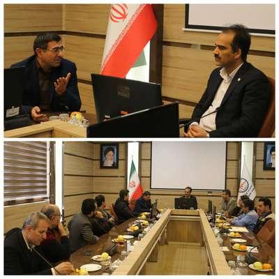 مدیر شرکت مخابرات استان همدان و هیئت همراه با عبدالمجید دیناروند مدیر عامل نیروگاه شهید مفتح دیدار و گفتگو کردند .