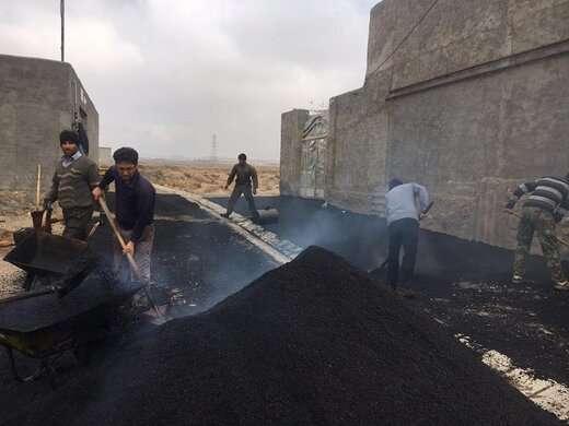 اجرای عملیات آسفالت ریزی در محلات کم برخوردار منطقه۶ تبریز